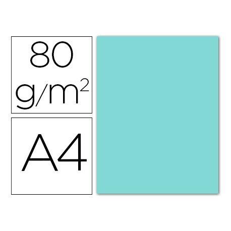 Papel color Liderpapel color azul celeste A4 80g/m2. Paquete con 15 hojas.