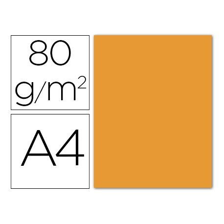 Papel color Liderpapel color naranja A4 80g/m2 15 hojas