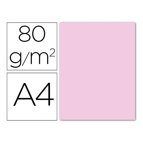 Papel color Liderpapel color rosa pastel A4 80g/m2