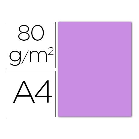 Papel color Liderpapel color lila A4 80g/m2