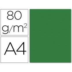 Papel color Liderpapel color verde acebo a4 80g/m2