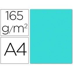Papel color Liderpapel color azul celeste A4 165g/m2