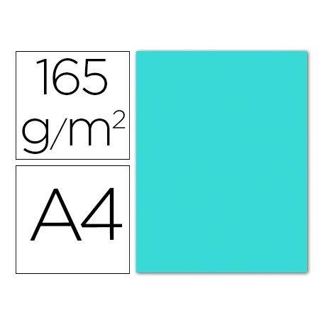 Papel color Liderpapel color azul celeste A4 165g/m2