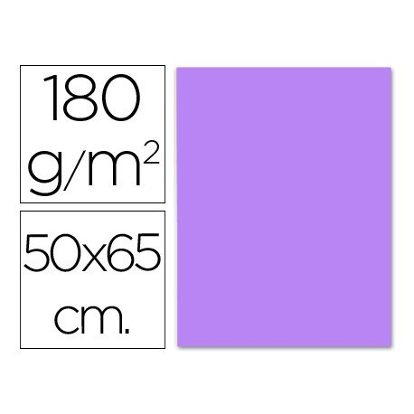 Cartulina Liderpapel color lila 50x65 cm 180g/m2