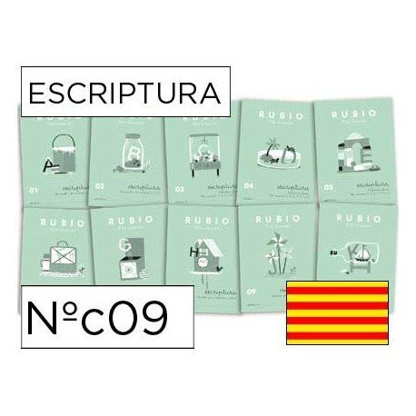 Cuaderno Rubio caligrafia Nº09 Catalan