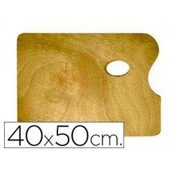 Paleta madera Artist rectangular tamaño 40x50x0,05 cm