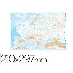 Mapa mudo de Europa fisico blanco y negro