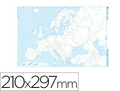 Mapa mudo de Europa politico blanco y negro 22172
