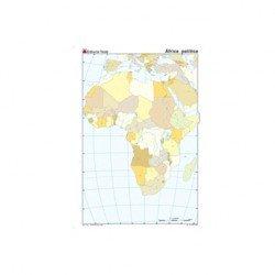 Mapa mudo de Africa politico