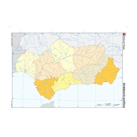Mapa mudo de Andalucia politico