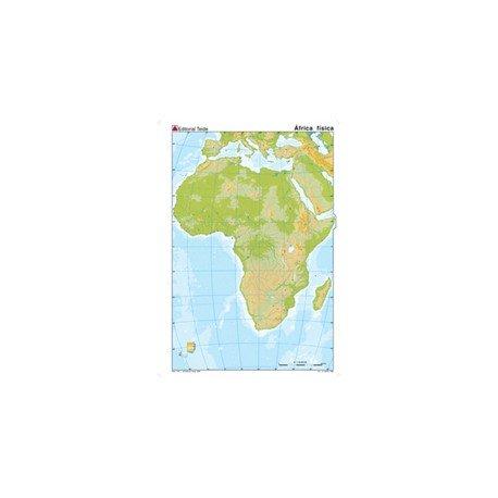 Mapa mudo de Africa fisico