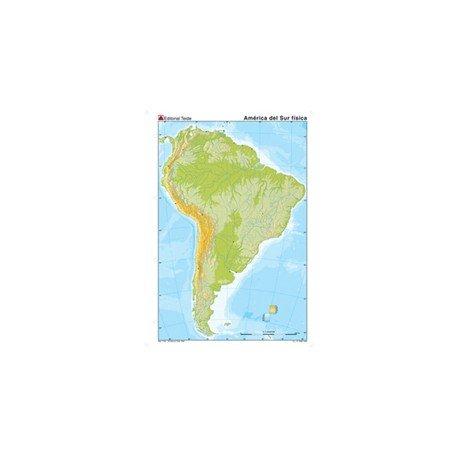 Mapa mudo de America del Sur fisico