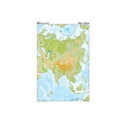 Mapa mudo de Asia fisico