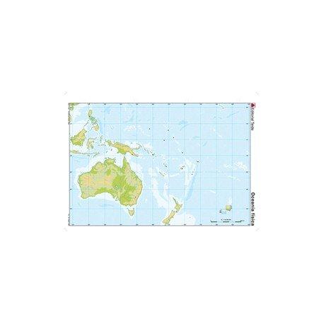Mapa mudo de Oceania fisico