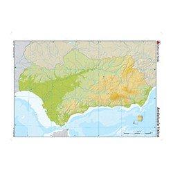 Mapa mudo de Andalucia fisico