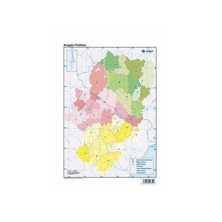 Mapa mudo de Aragon politico