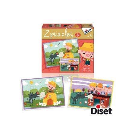 Puzzle Diset cuento los tres cerditos 2x20 piezas