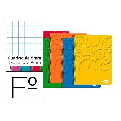 Bloc marca Liderpapel folio Write cuadricula 8 mm