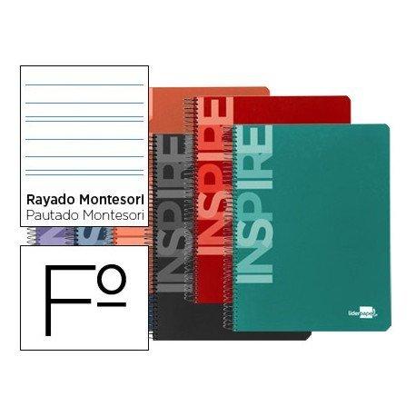 Bloc Liderpapel serie Inspire Folio rayado montessori