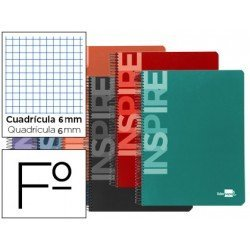 Bloc Liderpapel serie Inspire Folio cuadricula 6mm
