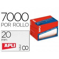 Etiqueta adhesiva marca Apli 1677 8x20 mm redondas rollo de 7000 unidades blancas