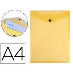 Carpeta Liderpapel dossier broche polipropileno din A4 amarillo