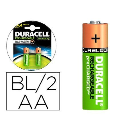 Pila Duracell recargable Staycharged AA