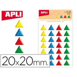 Gomets Apli triangulares en 3D colores surtidos