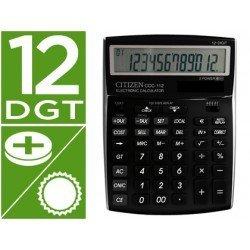 Calculadora sobremesa Citizen Modelo ccc-112 B 12 digitos negra