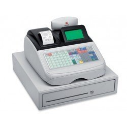 Registradora Olivetti ecr 8220s cajon grande caja profesional teclado plano conectable pc