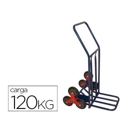 Carretilla portapaquetes salvaescalones 6 ruedas
