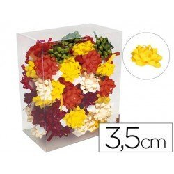 Lazos fantasia marca Liderpapel adhesivos 3.5 cm