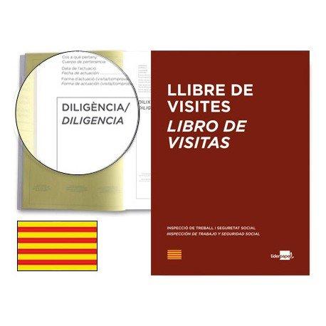 Libro Liderpapel idioma catalan A4 Registro de visitas