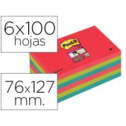 Bloc notas quita y pon Post-it ® super sticky 76 x 127 mm