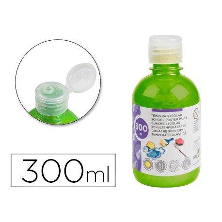 Tempera Liderpapel color verde fluorescente 300 cc