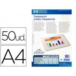 Transparencia marca HP laser A4 50 hojas