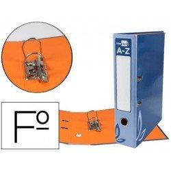 Archivador de palanca Liderpapel folio carton forrado rado azul lomo 75mm