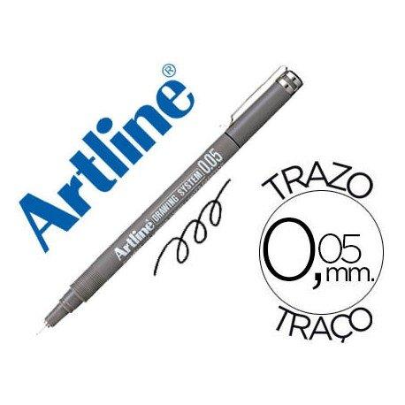 Rotulador Artline calibrado micrometrico negro de 0,05mm