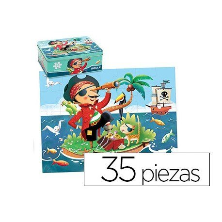 Puzzle a partir de 3 años Pirata Goula