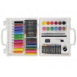 Estuche pintura marca Lidercolor plastico 67 piezas