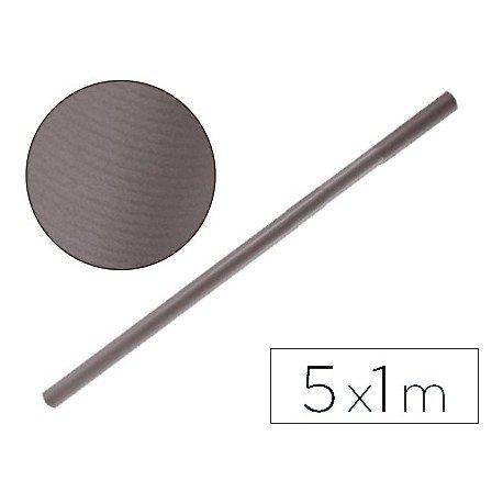 Bobina papel tipo kraft Liderpapel 5 x 1 m gris
