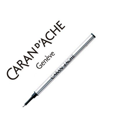 Tinta roller fine marca Caran d'Ache azul punta media