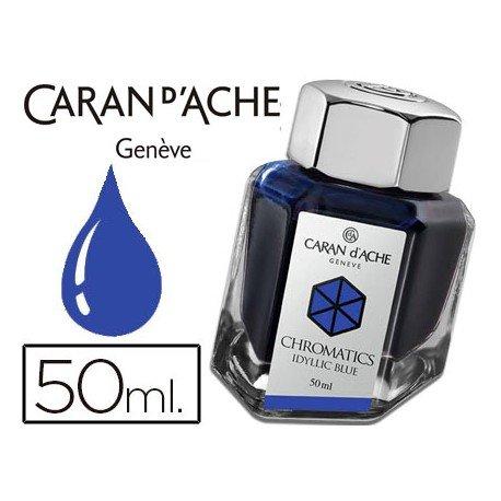 Tinta estilografica marca Caran d'Ache Chromatics azul idilico