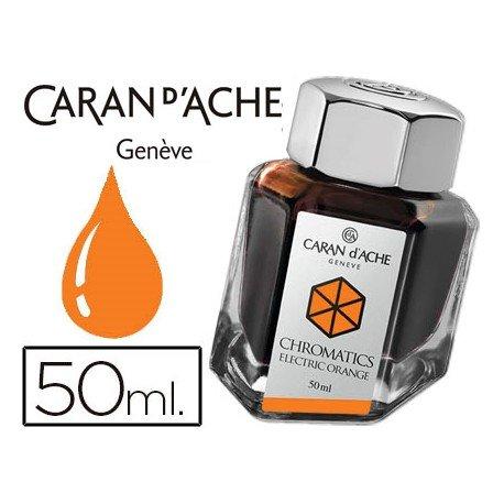Tinta estilografica marca Caran d'Ache Chromatics naranja electrico