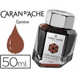 Tinta estilografica marca Caran d'Ache Chromatics marron organico