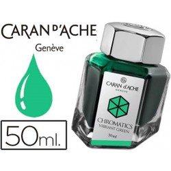 Tinta estilografica marca Caran d'Ache Chromatics verde vibrante