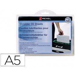 Hojas lubricantes marca Rexel destructora documentos paquete 15