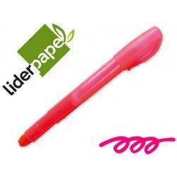Marcador de cera gel Liderpapel rosa