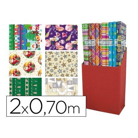 Papel fantasia marca Liderpapel Navidad 70 cm x 2 m