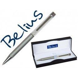 Boligrafo marca Belius Granada cristales plata estuche